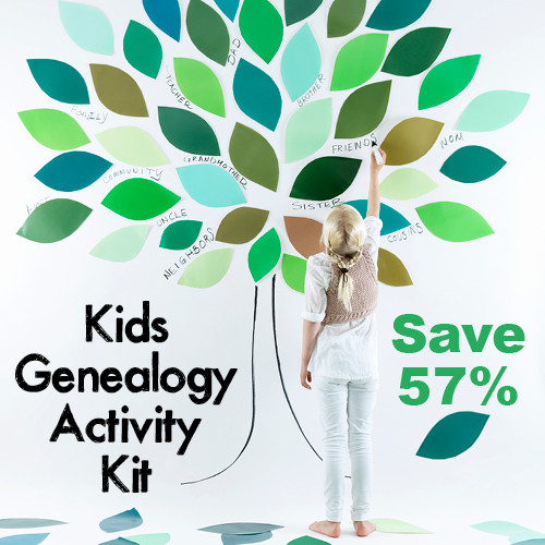 Kids Genealogy Activity Kit - Family Tree Magazine has brought together a lot of kid-friendly genealogy products here to get the next generation interested in genealogy. Timing is great with many schools across the country closing in on summer breaks.