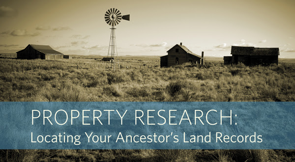 "Save 54% on Property Research: Locate Your Ancestor's Land Records Online Course at Family Tree Magazine! ""Discover How Land Records Can Enhance Your Research. Land records are an underutilized resource in genealogy research, yet so many of our ancestors came to the Americas to obtain it. In this week-long workshop on property research, you'll discover tips for locating and using land deeds, patents and other land records, useful methods for mapping and platting your family's lands, and discovering what resources are available online. Plus, learn what clues you can discover about your ancestor's lives and interests, including insight into your ancestor's political leanings, personal relationships, neighborhood standing, and more."""