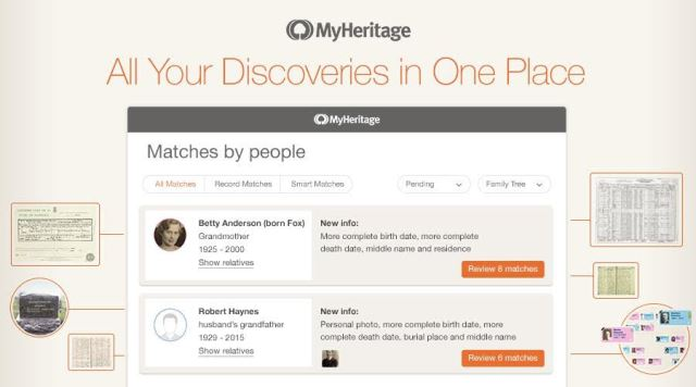 "FREE WEBINAR How to Use the Smart Matches & Record Matches MyHeritage Technologies, presented by MyHeritage Webinars, Tuesday, May 22nd, 1:00 pm Central - ""This webinar covers two powerful matching technologies from MyHeritage in depth. You'll understand how to best use them to benefit your research."""