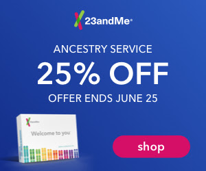 Save 25% on Ancestry Service DNA test kit at 23andMe! Today through Monday, June 25th, 23andMe is running a special offer for customers in the US and Canada to receive 25% off their Ancestry Service DNA test kit.