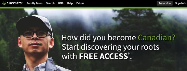 FREE ACCESS to Canadian Records at Ancestry!* Celebrate Canada Day and discover how you became Canadian with this amazing FREE ACCESS deal. Included is access to the Canadian Census Collection! Census records are one of the most useful resources to search your family history. You can discover censuses for every decade from 1851 to 1911 (Manitoba, Saskatchewan and Alberta from 1906 and 1916)