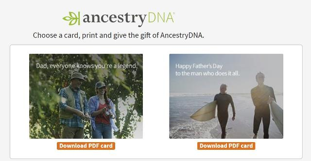 AncestryDNA has just made it easy to get Dad that perfect Father's Day gift if you've run out of time to meet shipping deadlines!