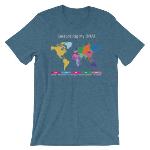 Win a FREE CUSTOMIZED DNA World Map T-Shirt from Celebrate DNA!