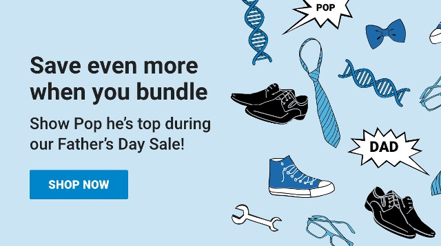 Save even more at Family Tree DNA when you bundle and show Pop he's top this Father's Day!