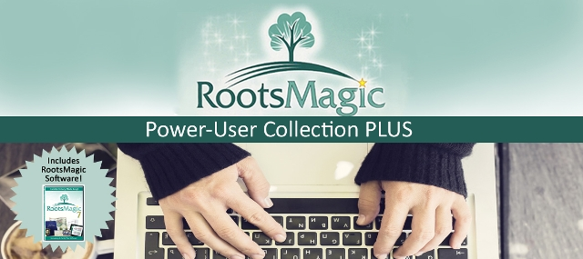 "Save 70% on RootsMagic Power User Collection PLUS (with software) via Family Tree Magazine! ""Build, preserve and organize your family tree research with help from RootsMagic. In this collection, you will get the latest version of the RootsMagic software plus four additional resources to help you use the software to its potential. You will get beginner, intermediate, and advanced tips and tricks for this award-winning genealogy software to make researching, organizing, and sharing your family history easy! Don't wait, harness the true power of Roostmagic today."""