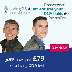 Regularly £99 GBP, Living DNA special Father's Day Sale price of just £99 GBP! Sale valid through June 18th. Click HERE to shop