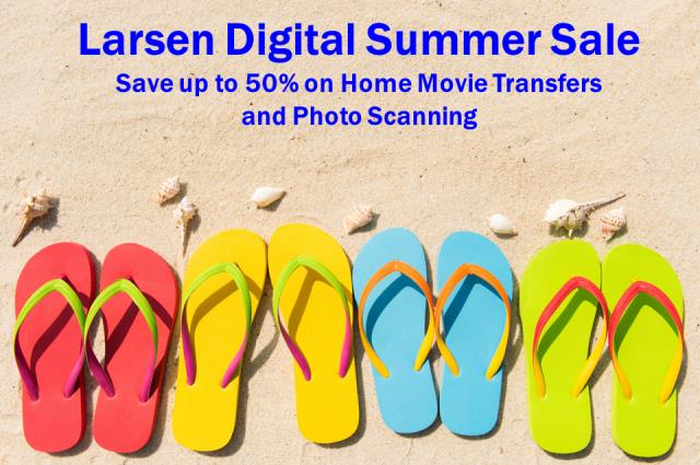 Save up to 50% on home movie transfers and photo scanning at Larsen Digital! Finally get your family photos digitized and protected!