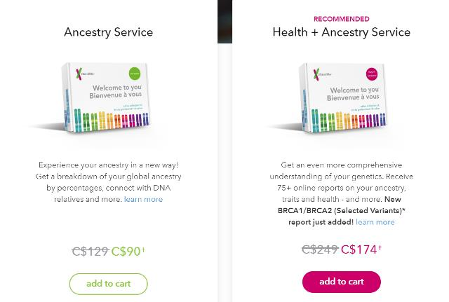23andMe Canada - Save 30% on all 23andMe DNA test kits during the 23andMe Summer Travel Sale