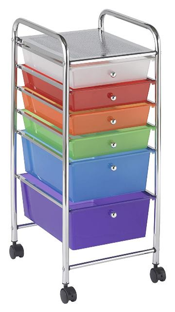 "Save over 40% on a Mobile Organizer Cart for your Genealogy Stuff! Does your spouse or family complain about your genealogy stuff being ""all over the place?"" Or do you just want to get more organized and be able to ""roll away"" your research materials when company visits? Check out this 6-Drawer Mobile Organizer used by quilters, scrapbookers and other hobbyists."