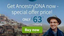 AncestryDNA UK is holding a special 4-day only FLASH SALE - get AncestryDNA for just £63! Get the details at DNA Bargains!