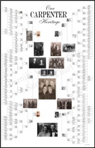 "Have you always wanted to create a beautiful, art-quality family tree chart to share your research with family and friends? Are you afraid you just aren't ready yet? Or perhaps you need a ""working chart"" to bring to a family reunion where people can help fill in the blanks? Family ChartMasters has a HUGE variety of charts including DNA charts and charts for RootsMagic and Family Tree Maker users!"