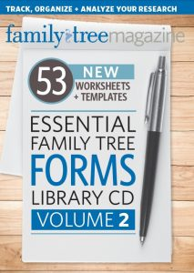 Essential Family Tree Forms Library CD Volume 2: In this all-new collection, get 53 new type-and-save research forms to make organizing and analyzing your genealogical work a breeze.