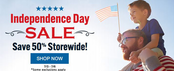 "Save 50% STOREWIDE at Family Tree Magazine! ""Celebrate Independence Day with Family Tree! Dig deeper into your family history with a wide variety of resources for those who want to discover, preserve, and celebrate their roots. Books, DVDs, OnDemand webinars, cheat sheets, and more will help you enjoy researching your family heritage."