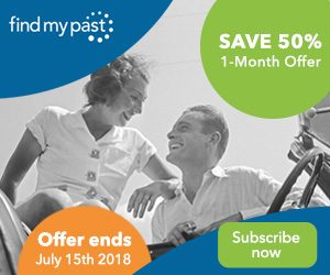 Save up to 50% off at Findmypast!