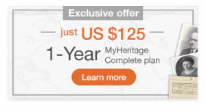 Get 50% off the MyHeritage Complete Subscription
