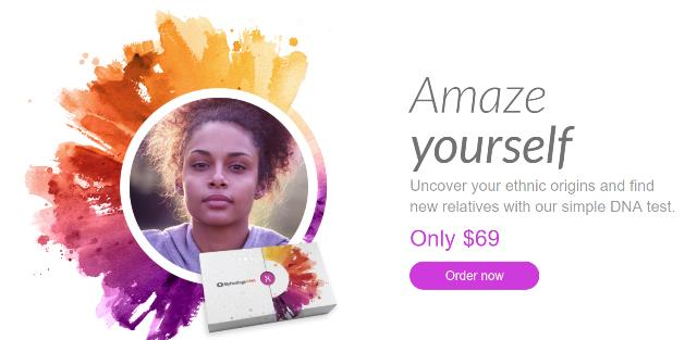 MyHeritage DNA - $69 USD! For just $69 USD you can get the popular autosomal DNA test kit similar to AncestryDNA, Family Tree DNA and other DNA testing companies. You'll have access to more ethnicities than any other major vendor PLUS received your results much faster than other companies. Note: you must purchase two (2) or more MyHeritage DNA test kits for this special price! Click HERE to shop and don't delay - via MyHeritage