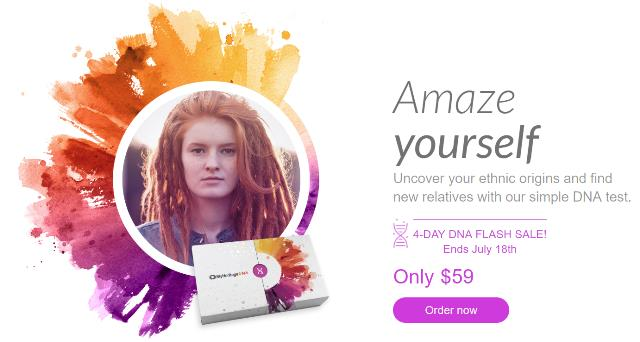 Get MyHeritage DNA for just $59 USD during this 4-day flash sale - ends July 18th!
