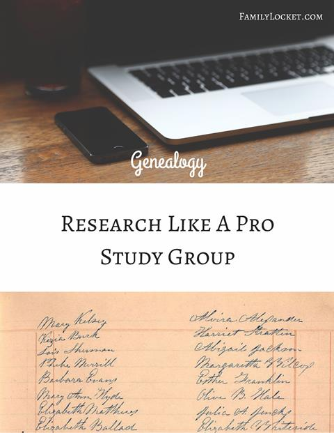 The popular Research Like a Pro Study Group is available for registration beginning August 1st until sold out