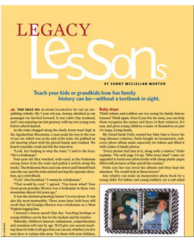 Family History for Kids:Teach your kids or grandkids how fun family history can be--without a textbook in sight.