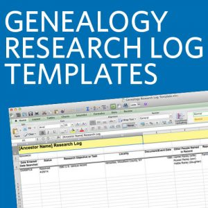 Genealogy Research Log Templates (Download): Avoid duplicating work and wasting precious genealogy time with these research log templates! The four spreadsheets are fully customizable, and can be uploaded to Google Drive so you can access your log anytime, anywhere.