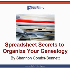 Spreadsheet Secrets to Organize Your Genealogy (Video Download): Learn how to use spreadsheets and timelines to keep track of your family tree research. From timelines and spreadsheet templates to research logs, you'll get the tools you need to organize your genealogy.