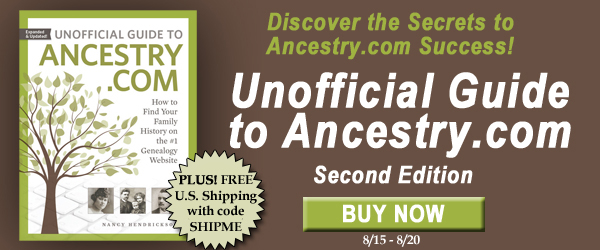 "Save 20% on Unofficial Guide to Ancestry.com, Second Edition plus get FREE SHIPPING at Family Tree Magazine! ""Dive into Ancestry.com! This updated and expanded guide will show you how to use Ancestry.com, including AncestryDNA. Full of Ancestry.com tips and strategies, this complete guidebook to Ancestry.com will help you find your ancestors' records and build out your family tree on the no. 1 genealogy website."""