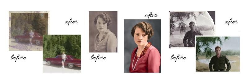 the experts at Larsen Digital have an EXCLUSIVE OFFER for readers of Genealogy Bargains: get one photo restoration for just $39.99 USD - this is a 20% savings off the regular price of $49.99 USD.